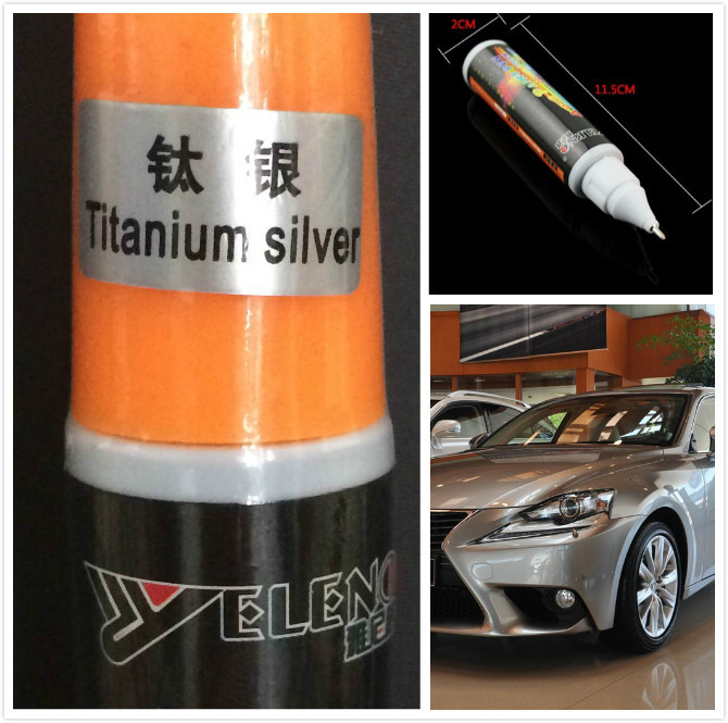 New 5pc 12ml titanium silver Professional Car Paint care Repair Pens Waterproof Clear Car Scratch Remover Painting Pen(China (Mainland))