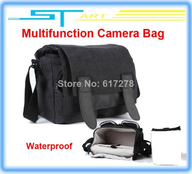 10pcs Fashion Multifunction Waterproof Camera Bag Digital SLR Shoulder Canvas for Canon Nikon VS DJI Phantom Case Free ship 2014<br><br>Aliexpress