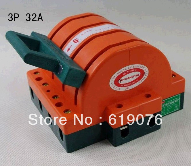 4P 32A Wholesale of 32A Four Pole Double Throw Knife Switch(China (Mainland))