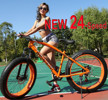 2015 the latest Russian-style 4.0-inch wide tires 26-speed mountain bike 7 snowmobiles ATV Russia free shipping