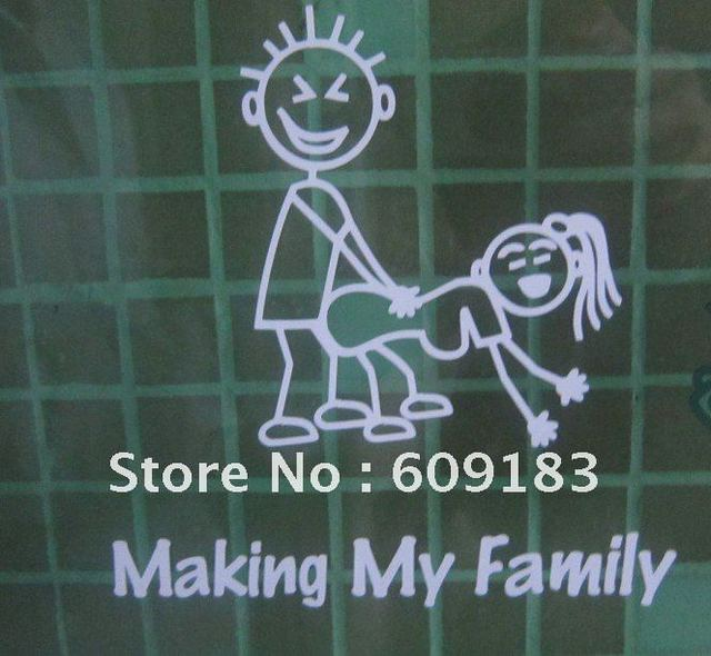 Whole sales 60 units Free shipping die cut sticker decals Making my family