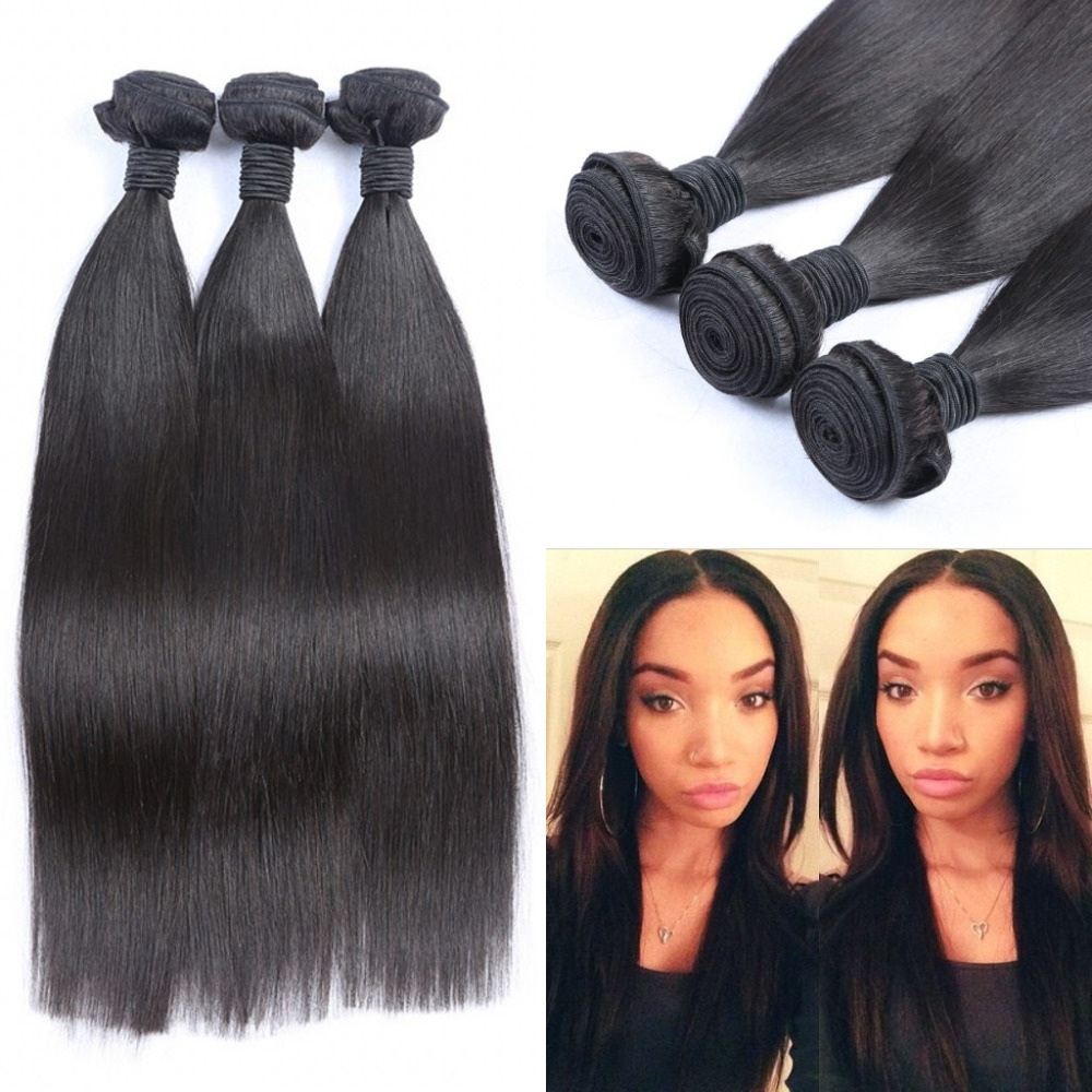 7A Top Quality Malaysian Virgin Hair Straight 3pcs Lot Malaysia Hair Weave Bundles Unprocessed Virgin Human Weave Thick &amp; Soft<br>