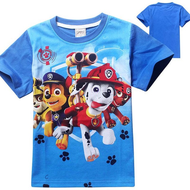 Детская футболки собака патруль одежды для мальчиков мультфильм свободного покроя для детей девушки топы мода костюм футболки tshirt enfant