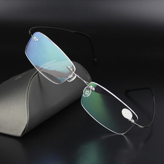 Очки без оправы мужчины Rx оптический очки памяти титан очки кадров L07440