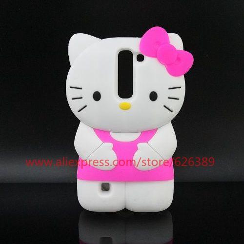 Classical Hello Kitty Design Silicone 3D Case Cover For LG Magna C90 / G4C / G4 mini / H502F H500F(China (Mainland))
