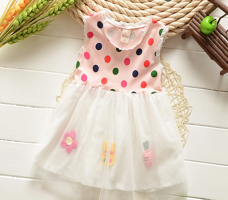 2015 new baby girls summer dresses vintage baby girls lace dresses girls summer clothing girls party princess dresses(China (Mainland))