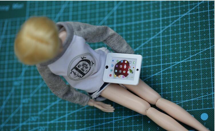 Free Transport,Woman Birthday Reward  2pcs IPAD for barbie, doll equipment for monster toys doll,FR