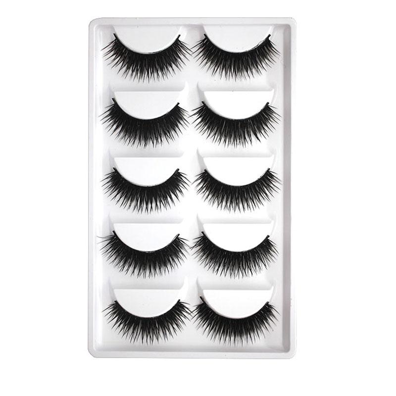 10Pair Black Dense Cross Fake Eyelashes Eyelashes Extensions Tool Makeup Beauty Thick False Eye Lashes Natural Soft Eyelashes(China (Mainland))