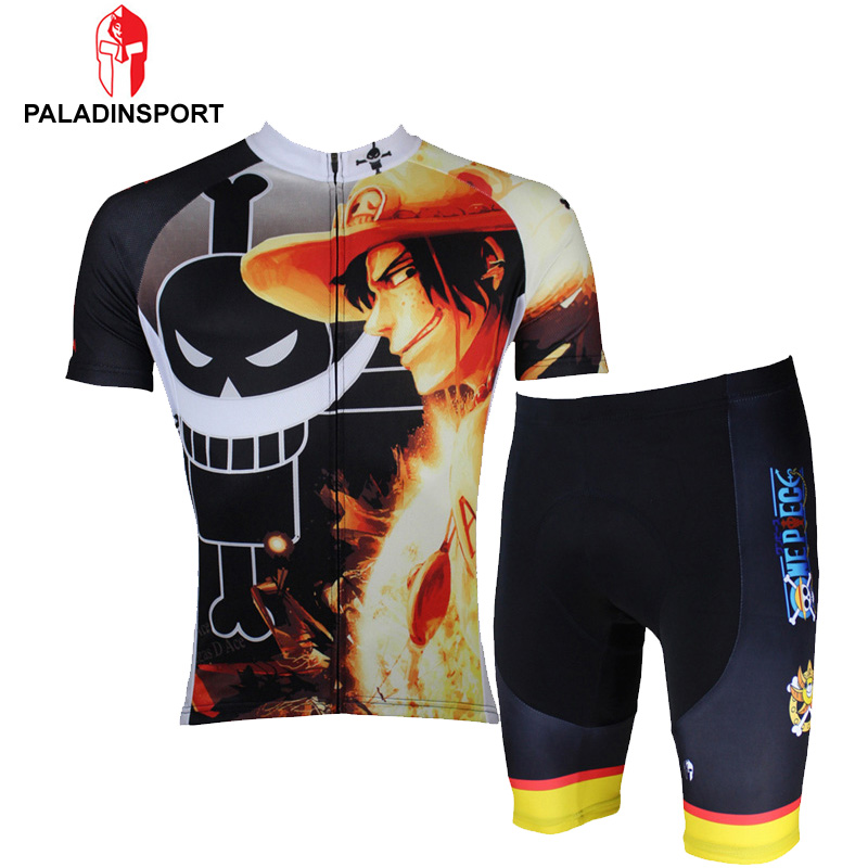 Paladin New 2016 Men's Cartoon One Piece Cycling Jersey + Short Luffy/Chopper/Zoro Ropa Ciclismo Cycling Bike Clothing Set(China (Mainland))