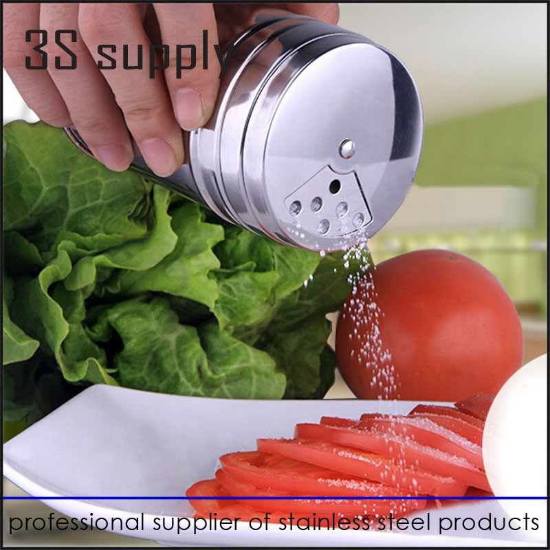 Hot Sale Stainless Steel Spice Jar Multi Condiment Box Kitchen Supplies Sauce Bottle Small Spice Container Cooking Tool(China (Mainland))