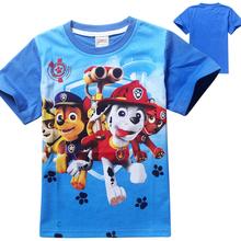 2016 Vestiti Del Bambino Maglietta Dei Ragazzi di Estate Del Cane Del Fumetto T Shirt Top Tee Bambini Vestiti Cani Bimbo T-Shirt Maglietta Delle Ragazze di Pattuglia(China (Mainland))