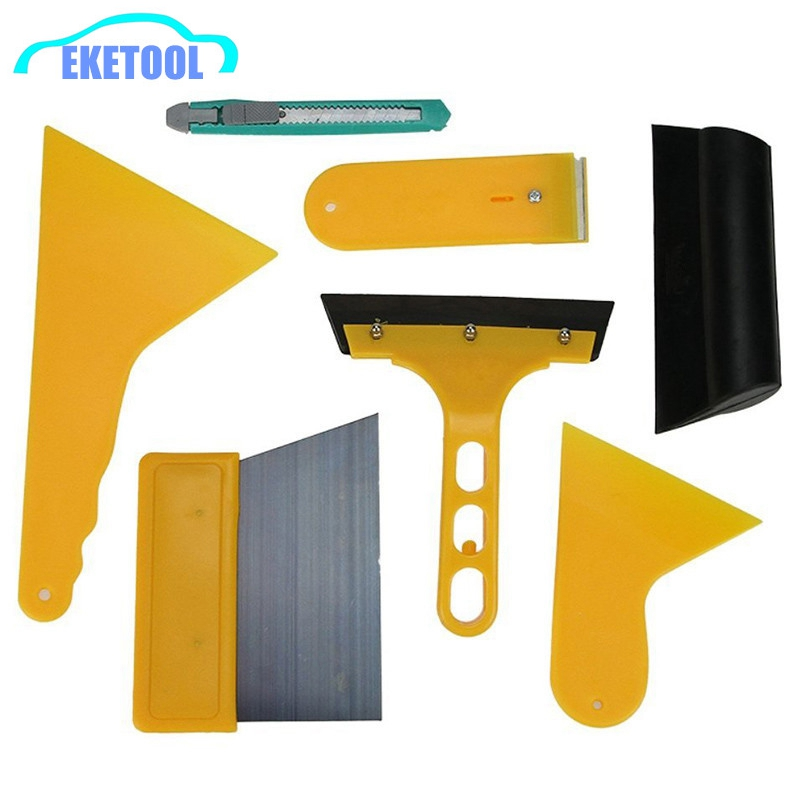 7pcs/Set Auto Removal Tool Wrapping Tint Kits Styling Headlight Vinyl Squeegee Cleaning Sticker Car Film Tool Easy Tool(China (Mainland))