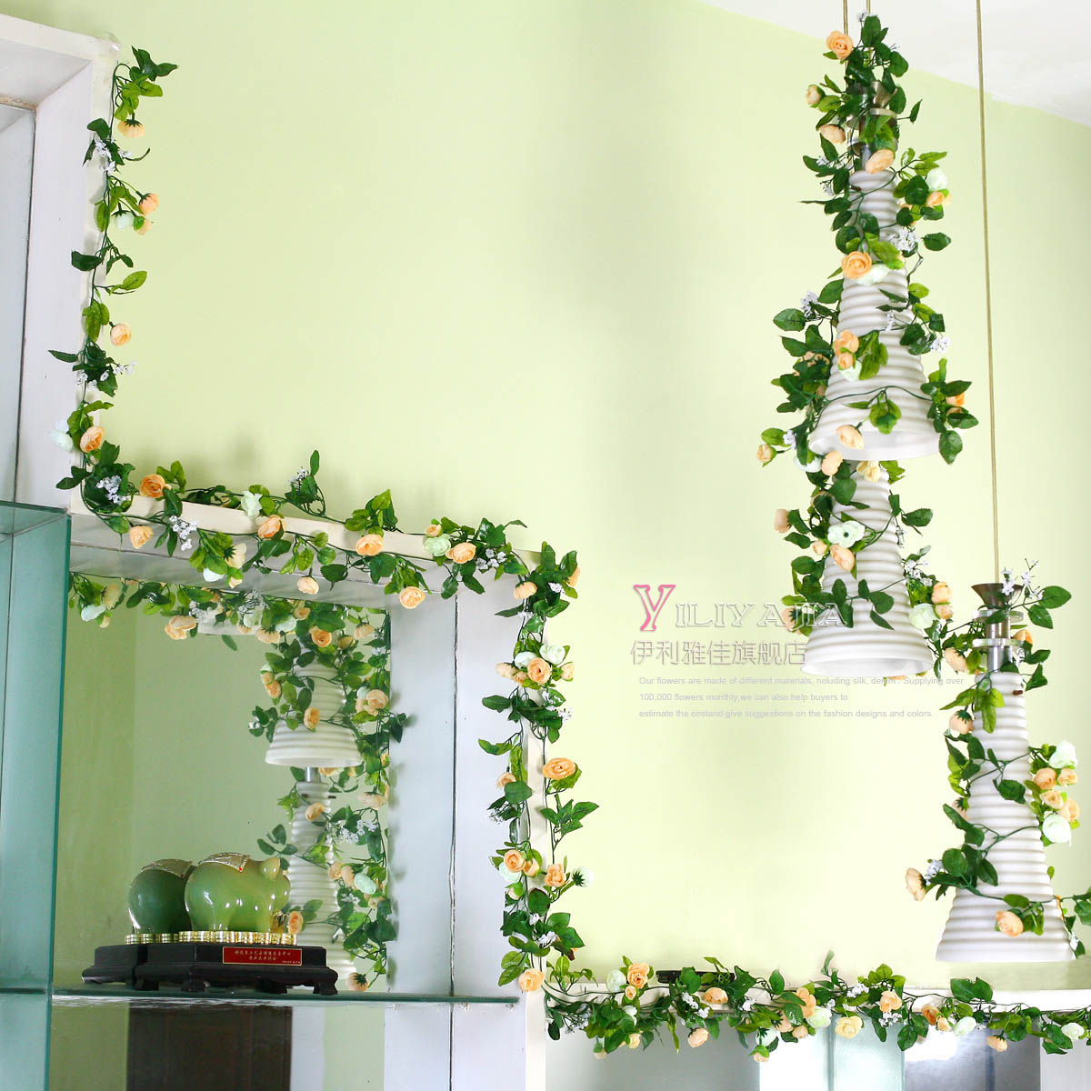 Correlation artificial flowers vine plants qihii home for Artificial trees for home decoration