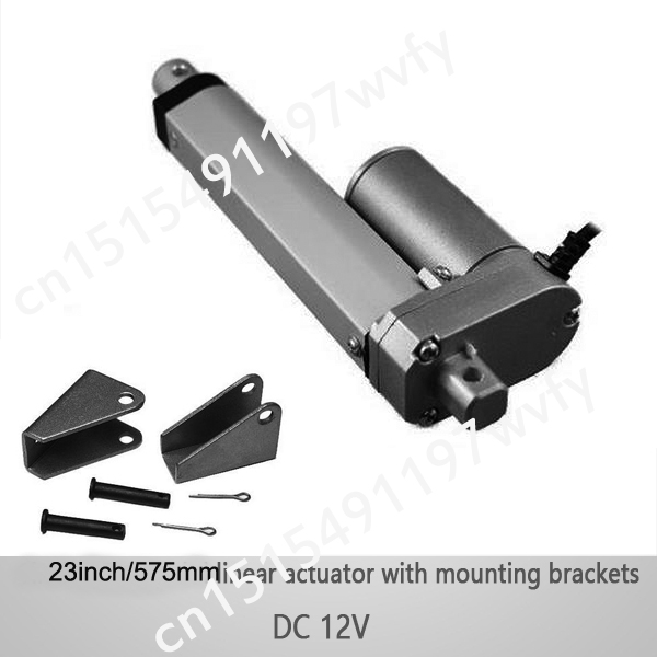 575mm stroke 1000N/100KGS load dc 12v electric waterproof hospital bed linear actuator with mounting brackets(China (Mainland))