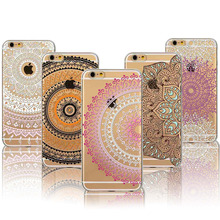 Colorful Floral Paisley Flower Mandala Henna Back Case Cover iphone 5 5s SE 6 6s fundas capa Soft Clear Mobile Phone Cases - poplar1115 store