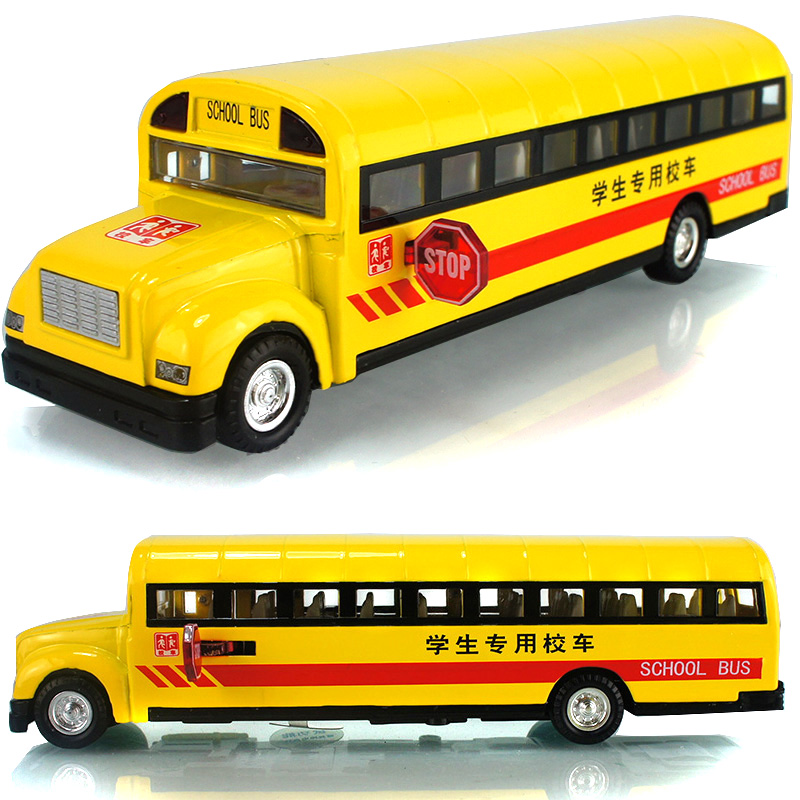 Classic school bus plain WARRIOR music alloy car model toy(China (Mainland))
