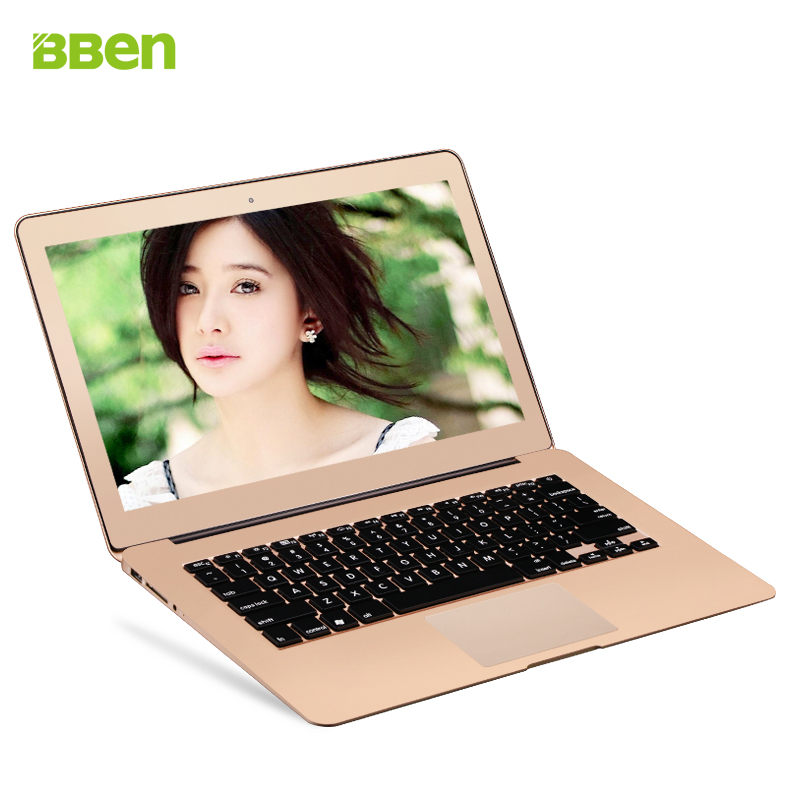 Hot selling 13.3 inch ultrabook laptop 8GB RAM 32GB SSD Webcam Wifi Bluetooth Windows 10 os notebook netbook computer gold color(China (Mainland))