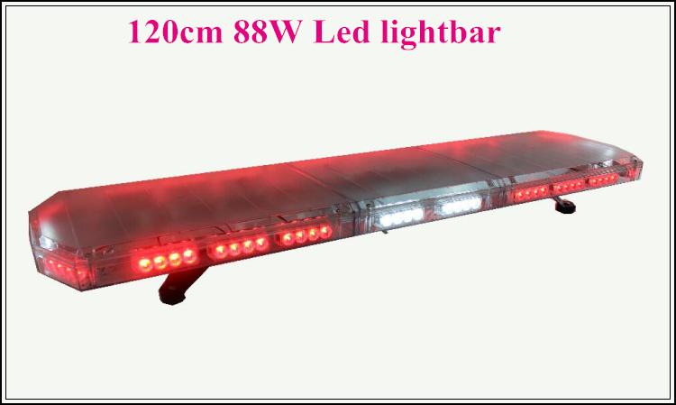 High intensity 120cm 88W Led emergency lightbar,strobe lightbar,police,ambulance,fire traffic light bar,15flash,warerproof(China (Mainland))