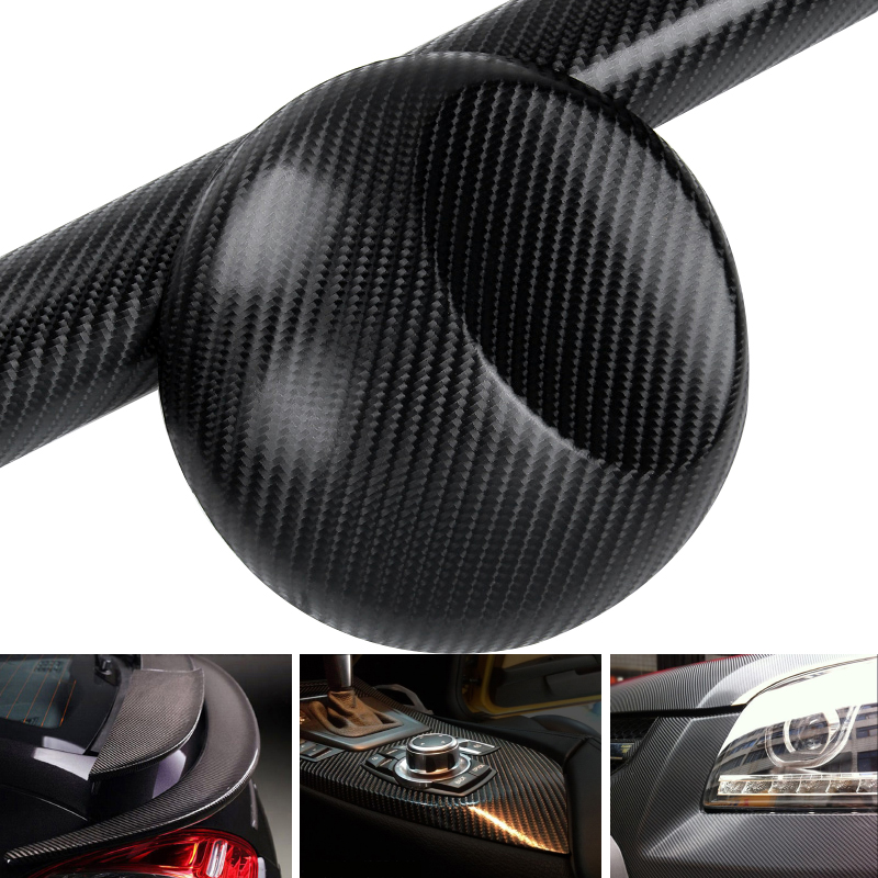 200x50cm 4D Car Styling Carbon Fiber Vinyl Film 3M Car Sticker Waterproof DIY Color Wrap With Retail packaging(China (Mainland))