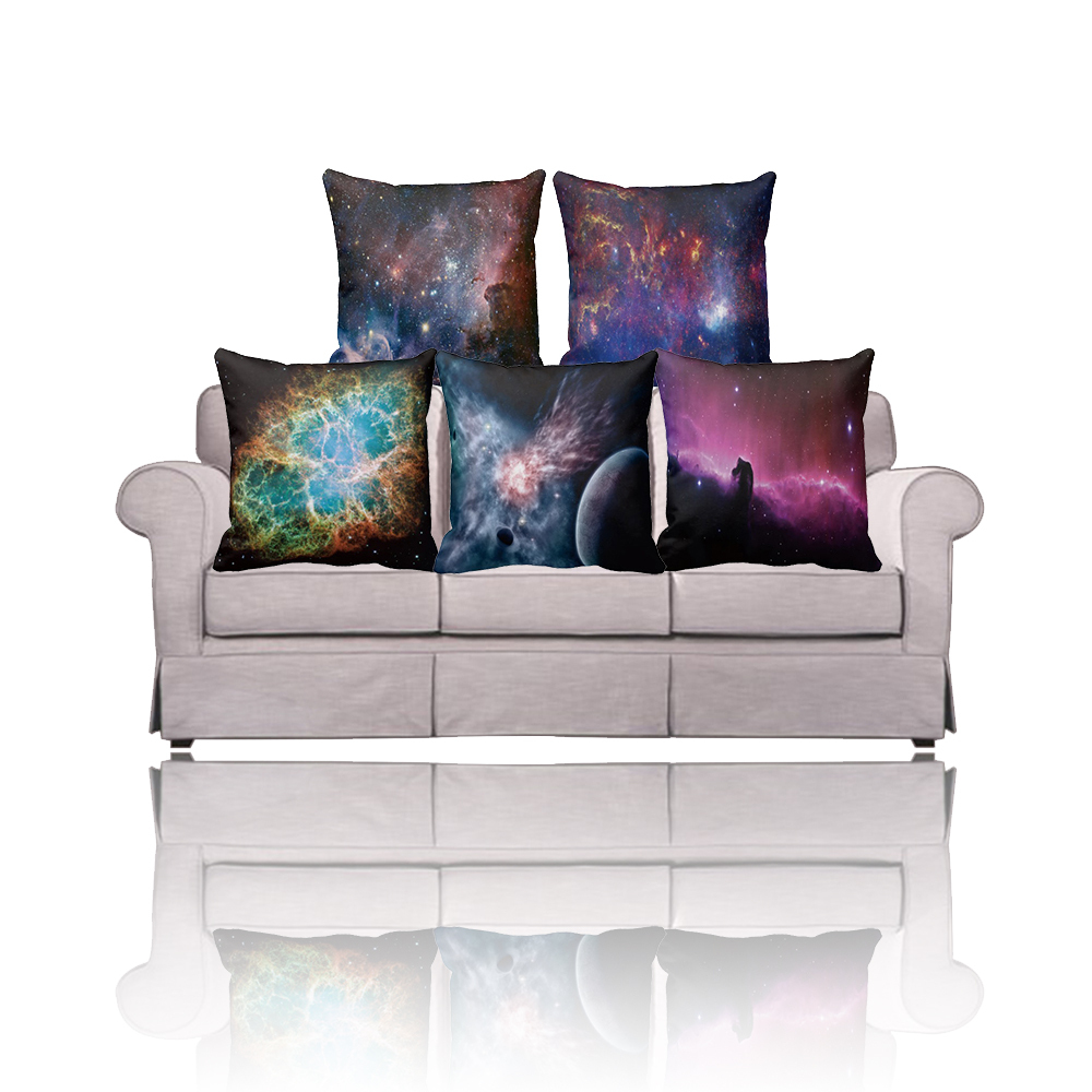 Ikea Pillow Cover 2 Side Print Galaxy Cushion Covers,Sofa/Car/Home Decorative Pillow Case 40X40 ...