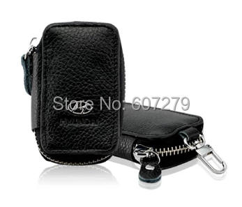 genuine leather bag for auto car key remote pager vehicle key bag(China (Mainland))