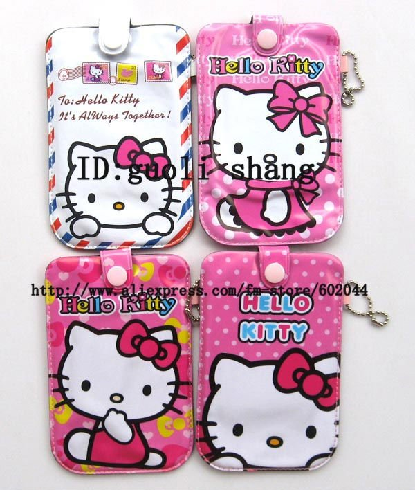 Free shipping 20pcs hello kitty purse cell phone pouches socks covers case(China (Mainland))
