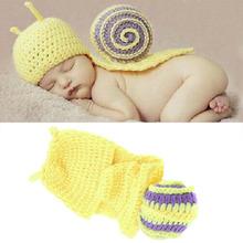 Infant Baby Crochet Snail Hatsborn Photography Prop Boy Beanies Cap Hot Selling(China (Mainland))