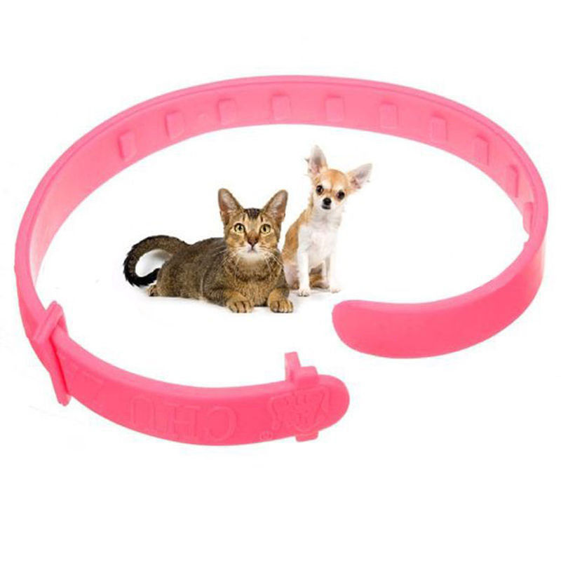 Pink Pet Collar Cat Dog Neck Ring Leaveaway From Flea Tick Mite Louse Remedy Cat Dog Animal Accessories(China (Mainland))