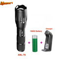 5 Mode 3800 Lumens Zoomable LED Flashlight Torch Waterproof XM L T6 E17 Rechargable Flashlights Torches