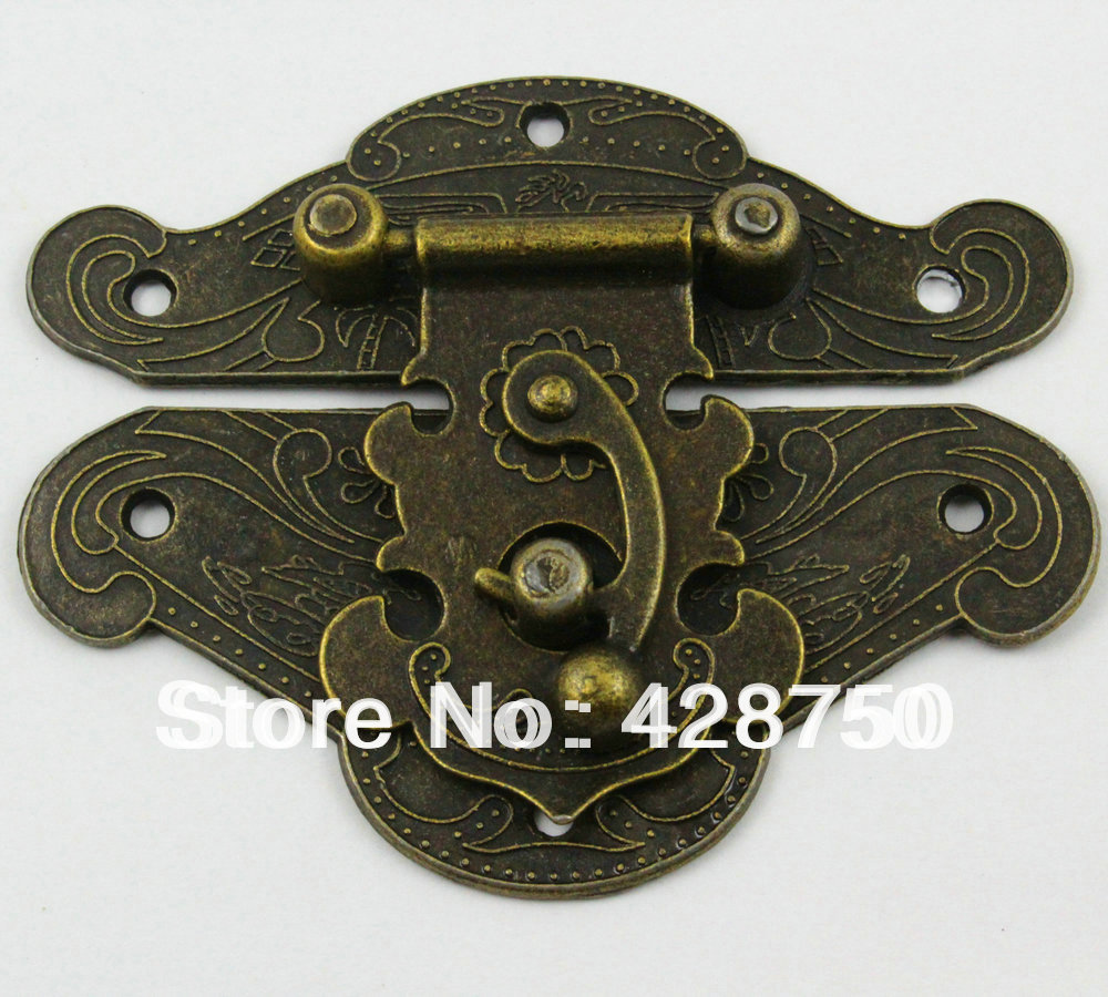 Antique Brass Hasp Latch Look Box Hasp 82*65mm Free Shipping<br><br>Aliexpress