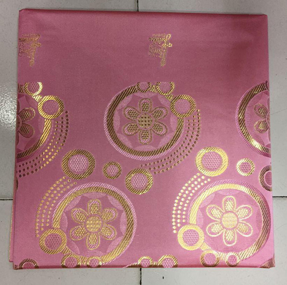 Free shippin by DHL! (1pc/pk) Pink and gold African gele headtie big African head wrapper for fashion party SHT02(China (Mainland))