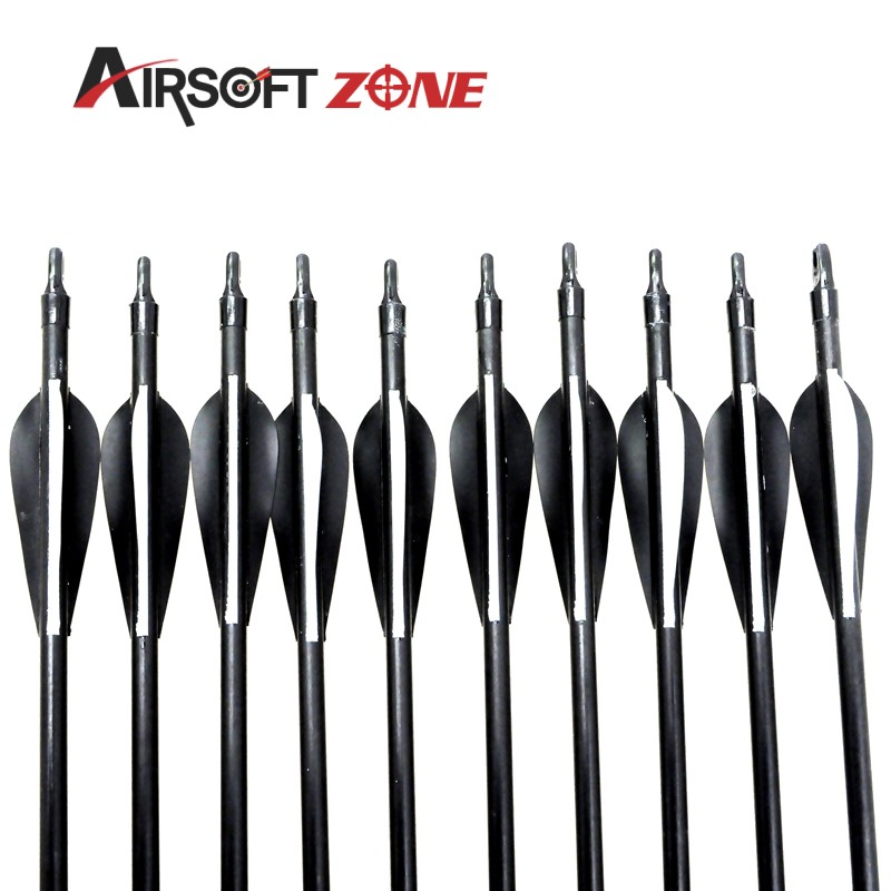 12PCS New Style Fiberglass Arrows with Nocks Proof Fiber Glass RECURVE BOWS Silver Arrowhead Airsoftsports