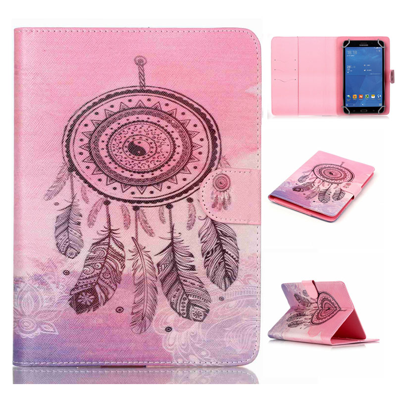 - HTB1HdggLXXXXXa - [print] Fashion PU Leather Stand Case Cover For Digma Optima 7.3 Universal 7 inch Tablet cases w/Credit Cards Holder M4D69D