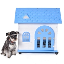 Fast Delivery Dog Kennel Removable Pet Kennel Outdoor Indoor Dog House Easy Build Up Puppy Dog Cat Hole Pet Supplies 2 Colors(China (Mainland))