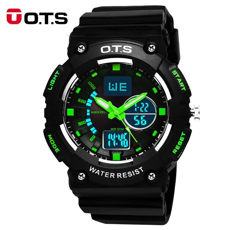 OTS quartz digital sport watches 50M Professional Waterproof analog Luminous men outdoor military wristwatches 2016 fashion OTS<br><br>Aliexpress