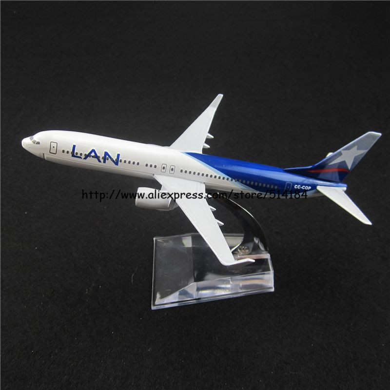 16cm Alloy Metal Chile Air Lan Airlines Boeing 737 B737 800 CC-COP Airways Plane Model Airplane Model w Stand Aircraft Toy Gift(China (Mainland))