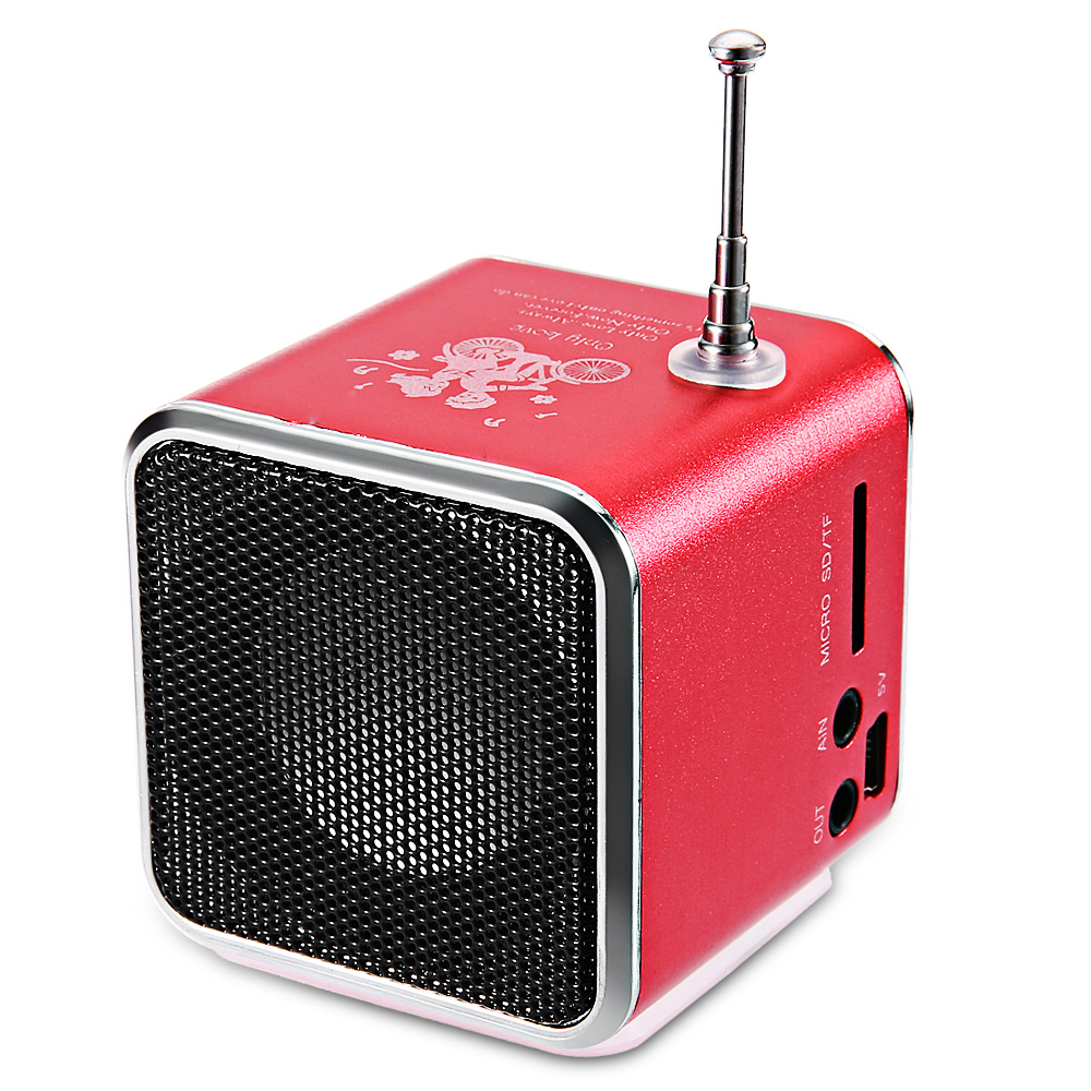 TD-V26 Portable Radio Speaker With LCD LED Display Support Micro SD/TF Music Player Digital FM Compatible With Laptop/Phones