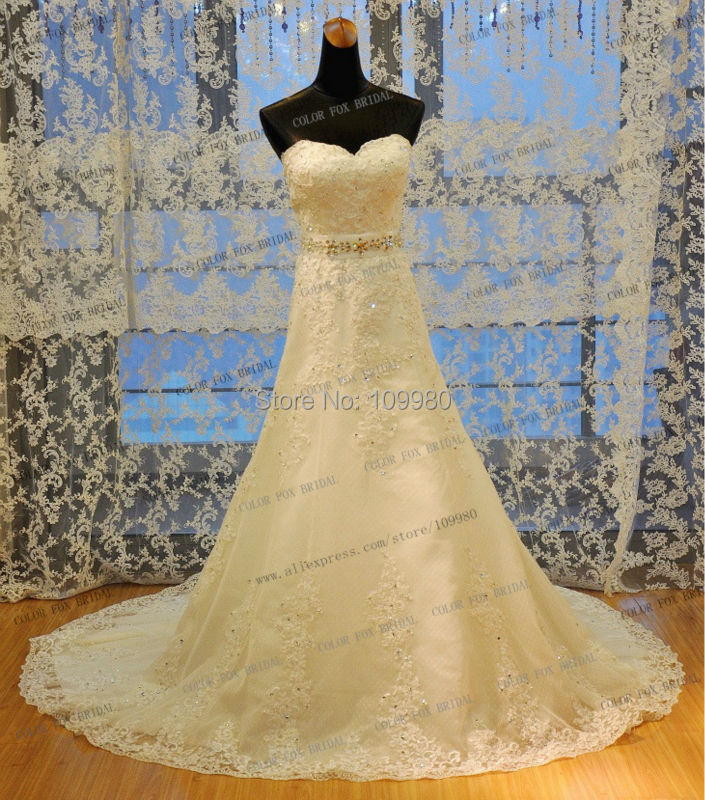 Wedding Dress Lace Up Kit : New arrivals stones beaded lace trumpet real photos