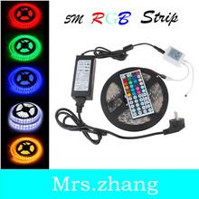 5M 5630/5050/3528 RGB Cool/Warm White LED Strip Ribbon Light  Waterproof Flexible+Adapter + Remote(China (Mainland))