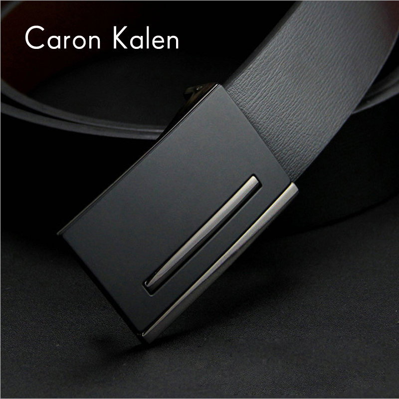 New designer mens belt luxury brand style real leather belts for men metal buckle man Jeans pants genuine leather male strap(China (Mainland))