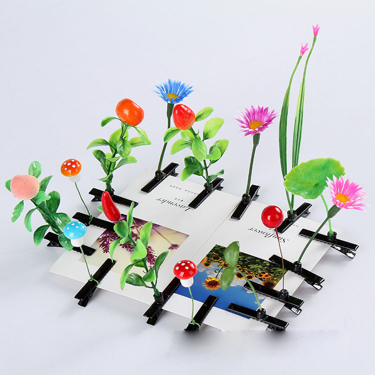 20pcs Small Wholesale Lovely Flower Hair Clips Baby Bud Grass On Head Kids Hairpins Mushroom Bean Sprout Hair Wear Accessories(China (Mainland))