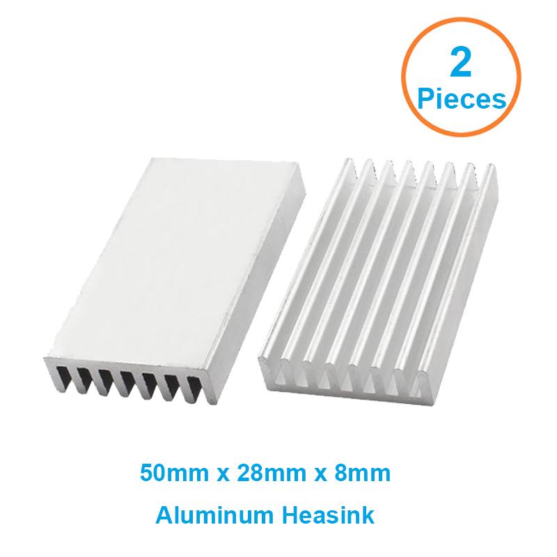 2pcs/lot Aluminum Heatsink 50x28x8mm Electronic Chip Cooling Radiator Cooler for Router,Memory,IC ,LED,fan heat dissipation(China (Mainland))