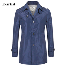 Fashion Long Trench Coat Mens Slim Fit Casual  Windbreaker Jackets Outerwear Overcoats Outdoor For Spring Plus Size 5XL F06(China (Mainland))