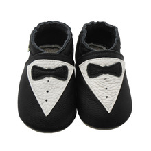 Sayoyo Brand Baby Leather Moccasins Black Baby Boy Shoes Girl Bow Slip-on Infant Toddler Crib Shoe First Walkers Free Shipping()