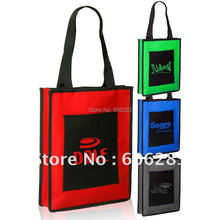 Non woven fashion promotion shopping bag with TWO pockets(China (Mainland))