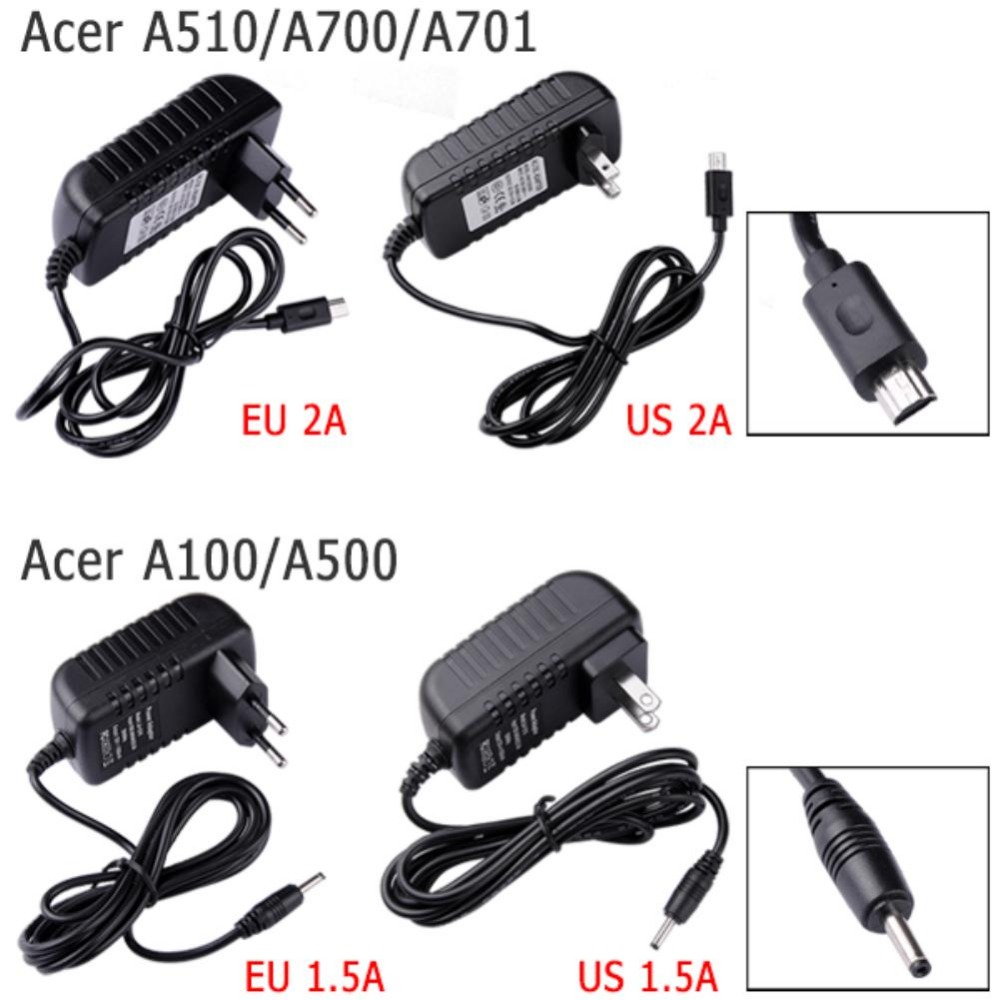NEW US EU Power Adapter Wall Charger 12V 2A 1.5A For Acer Iconia Tab A510 A700 A701(China (Mainland))