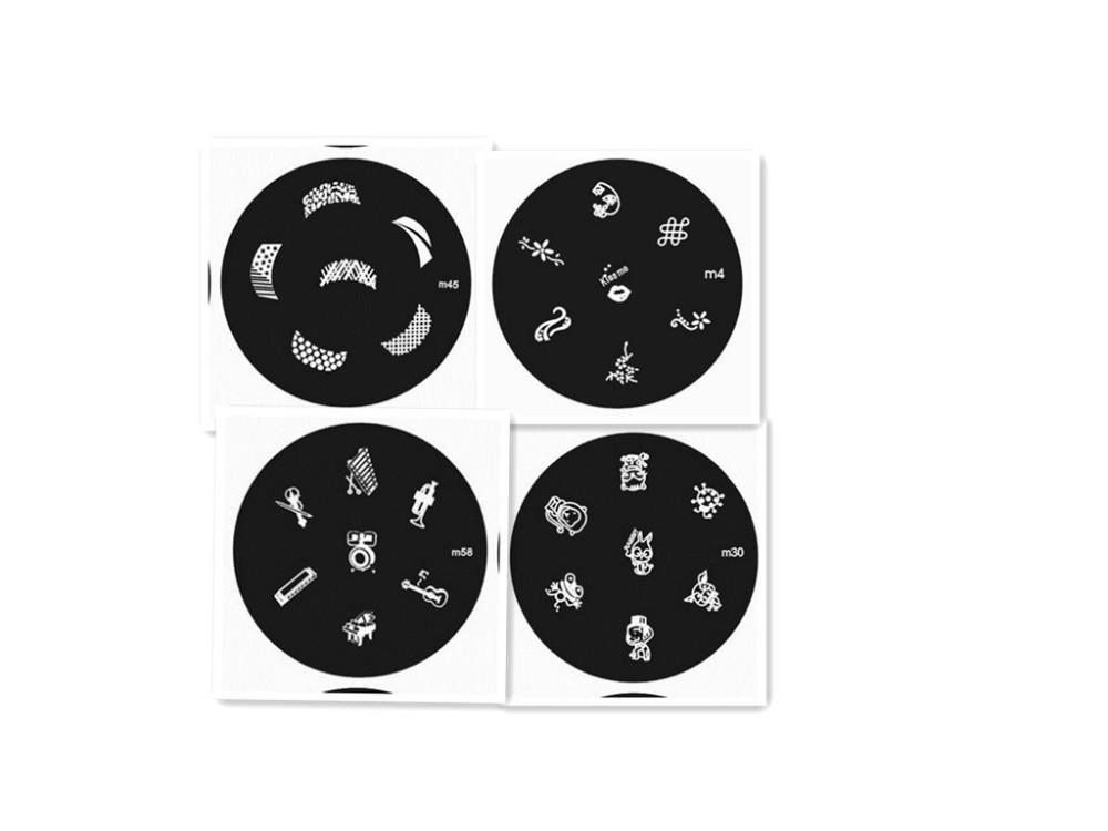 nail art stamping plates designs konad stamping nail art kit stainless steel nail art stamping plates slice 1lot=10pcs(China (Mainland))
