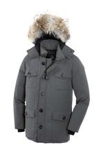 E-EMS Livraison Nouvelle Marque Canada 2017 hommes Hiver chaud Respirant manteau Goode vers le bas veste de fourrure de Loup col hommes Vers Le Bas veste Parka bonne(China (Mainland))