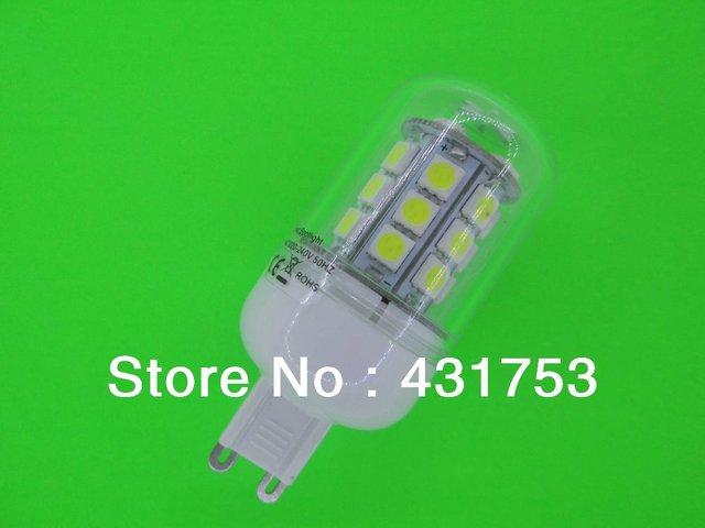 Sale Free Shipping 5PCS G9  7W  LED 5050 Corn Light G9 5050 27 LED Bulb 200V-260V/AC Spot Light Warm White Light Lamp
