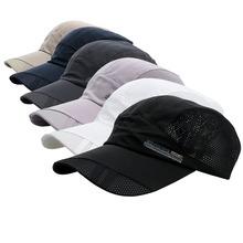 Men Women Outdoor Sport Hat Baseball Mesh Cap Adjustable Running Visor Hats(China (Mainland))